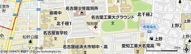 愛知県名古屋市千種区北千種周辺の地図