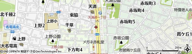 愛知県名古屋市千種区天満通周辺の地図