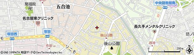 愛知県長久手市桜作周辺の地図