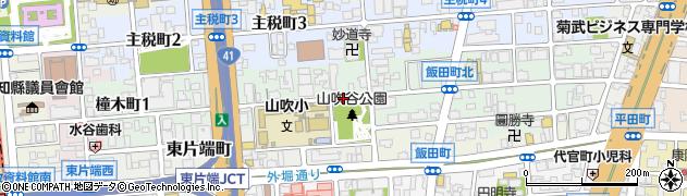愛知県名古屋市東区橦木町周辺の地図