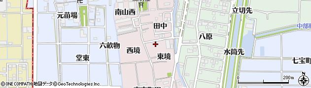 愛知県あま市小橋方(東境)周辺の地図
