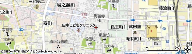 愛知県津島市米之座町周辺の地図