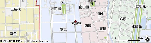 愛知県あま市乙之子(六畝物)周辺の地図
