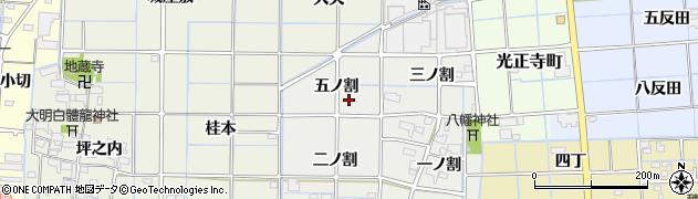 愛知県津島市椿市町周辺の地図