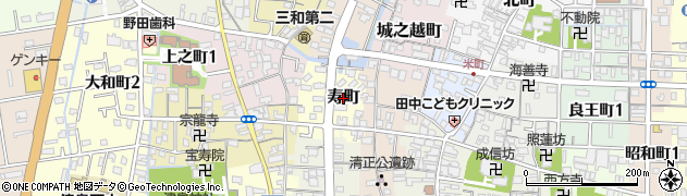 愛知県津島市寿町周辺の地図