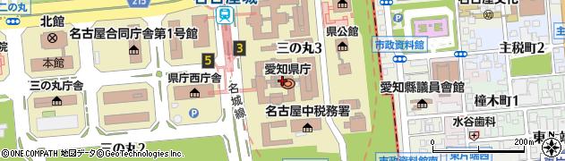 愛知県周辺の地図