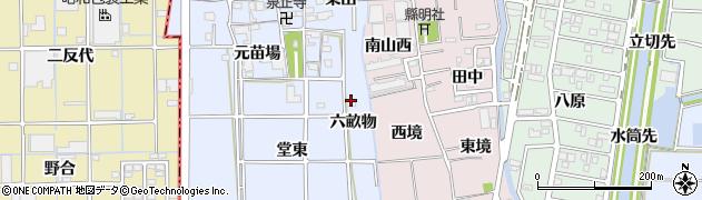 愛知県あま市乙之子六畝物周辺の地図