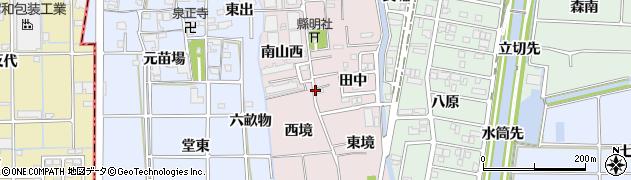 愛知県あま市小橋方周辺の地図
