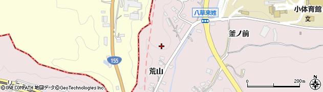レストラン車周辺の地図