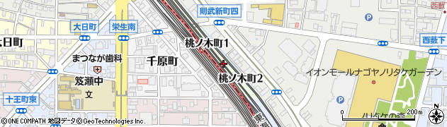 愛知県名古屋市西区桃ノ木町周辺の地図