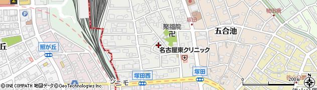 愛知県長久手市塚田周辺の地図