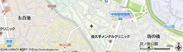 愛知県長久手市仲田周辺の地図
