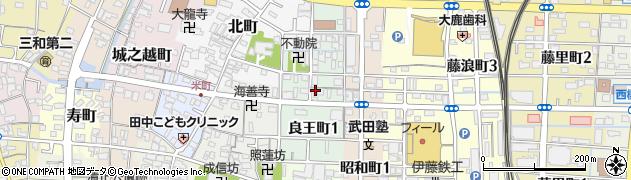 愛知県津島市良王町周辺の地図