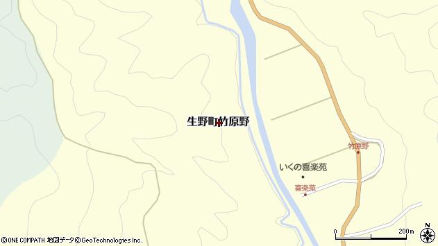〒679-3323 兵庫県朝来市生野町竹原野の地図