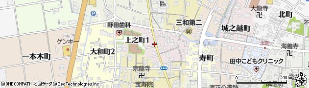 愛知県津島市上之町周辺の地図