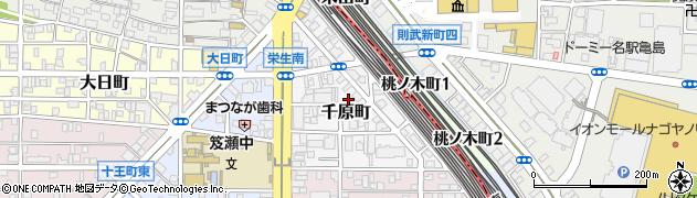 愛知県名古屋市中村区千原町周辺の地図