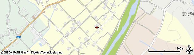 京都府京都市右京区京北比賀江町(東中溝)周辺の地図