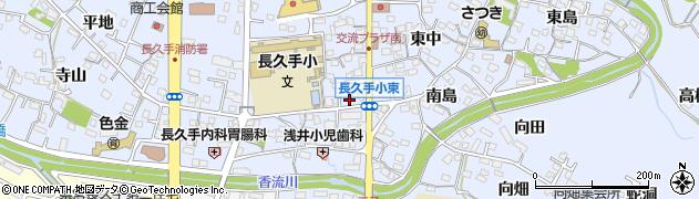 愛知県長久手市岩作(中脇)周辺の地図