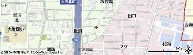 愛知県大治町(海部郡)西條(弥勒)周辺の地図