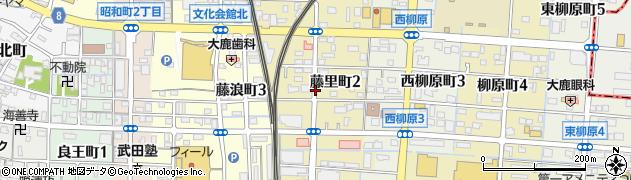愛知県津島市藤里町周辺の地図