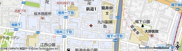 愛知県名古屋市西区新道周辺の地図