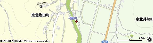 京都府京都市右京区京北塩田町(椎ノ川原)周辺の地図