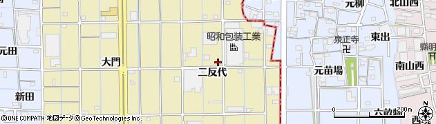 愛知県津島市神守町(二反代)周辺の地図