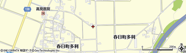 兵庫県丹波市春日町多利周辺の地図