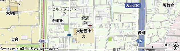 愛知県大治町(海部郡)西條(松下)周辺の地図