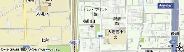 愛知県大治町(海部郡)西條(壱町田)周辺の地図