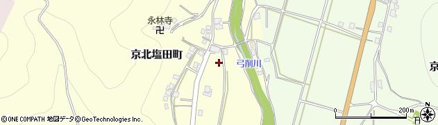 京都府京都市右京区京北塩田町(藏ノ本)周辺の地図