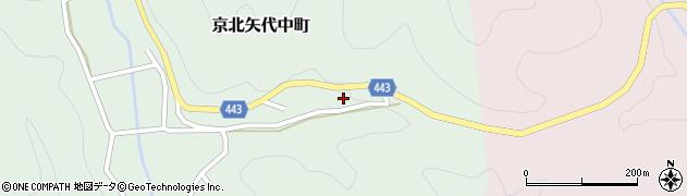 京都府京都市右京区京北矢代中町(馬場谷道ノ下)周辺の地図