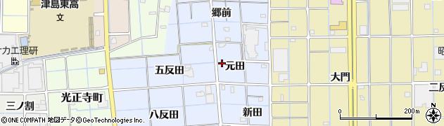 愛知県津島市大木町周辺の地図