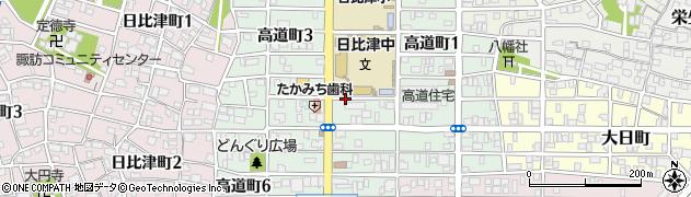 愛知県名古屋市中村区高道町周辺の地図