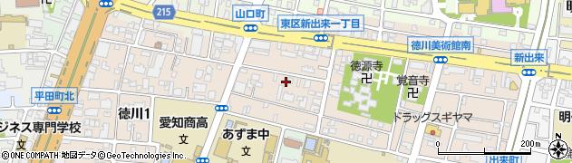 愛知県名古屋市東区徳川周辺の地図