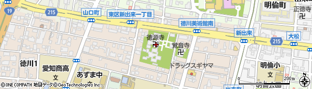 徳源寺周辺の地図