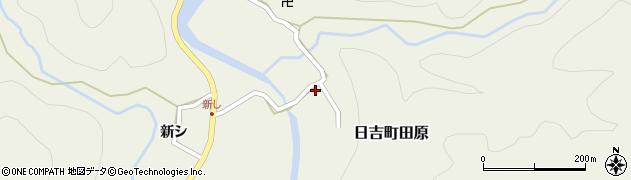 京都府南丹市日吉町田原(和田口)周辺の地図