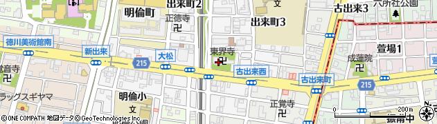 東界寺周辺の地図