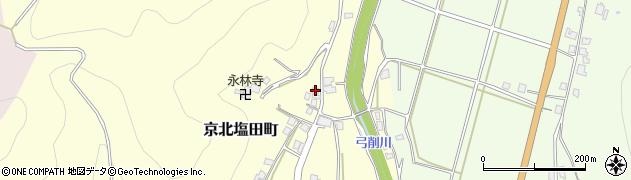京都府京都市右京区京北塩田町(寺ノ前)周辺の地図