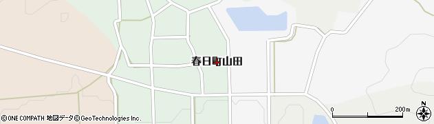 兵庫県丹波市春日町山田周辺の地図