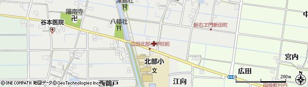 愛知県愛西市新右エ門新田町(郷前)周辺の地図