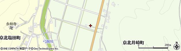 京都府京都市右京区京北井崎町(向中道)周辺の地図