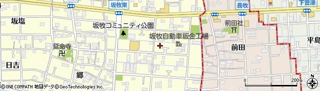 愛知県あま市坂牧(阿原)周辺の地図