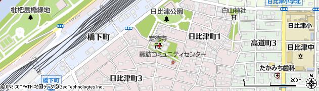 定徳寺周辺の地図