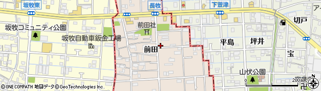 愛知県大治町(海部郡)長牧(前田)周辺の地図