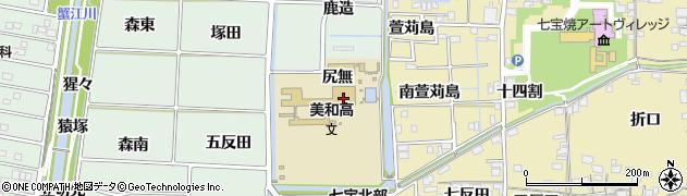 愛知県あま市篠田(五ツ藤)周辺の地図
