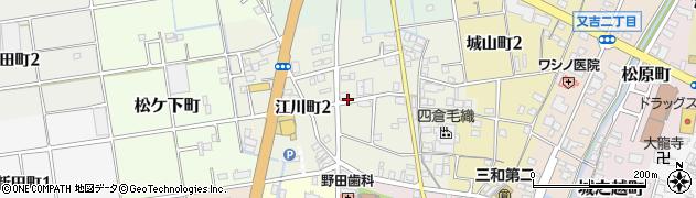 愛知県津島市江川町周辺の地図