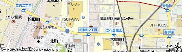 愛知県津島市昭和町周辺の地図