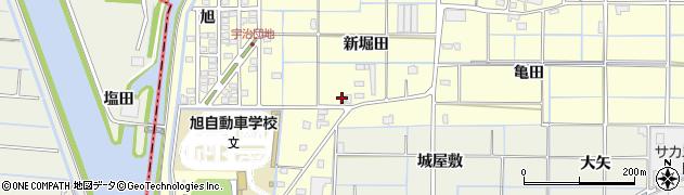 愛知県津島市宇治町(新堀田)周辺の地図