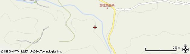 愛知県豊田市加塩町(栢木)周辺の地図